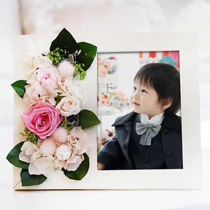 プリザーブドフラワーのフォトフレーム Soel Flowers