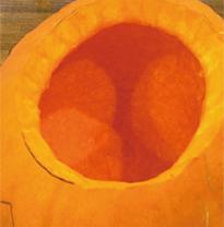 ジャックオーランタン かぼちゃ 種と繊維をきれいにとる